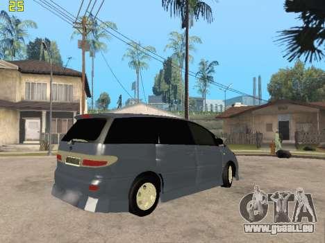 Toyota Estima Altemiss 2wd pour GTA San Andreas vue intérieure