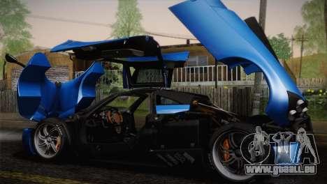 Pagani Huayra pour GTA San Andreas moteur