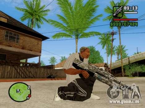 M-86 Sabre v.2 pour GTA San Andreas troisième écran
