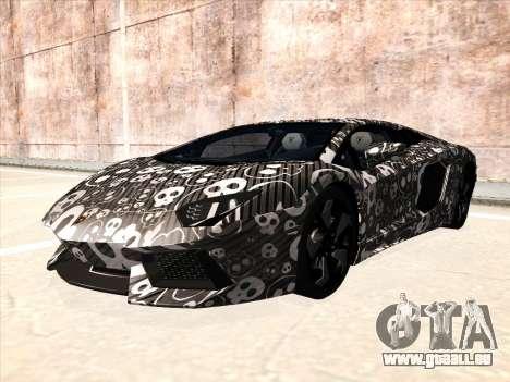 Lamborghini Aventador LP700-4 2013 pour GTA San Andreas sur la vue arrière gauche