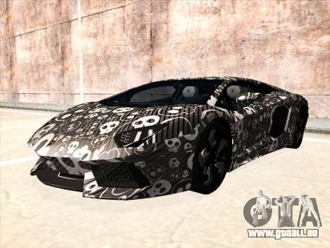 Lamborghini Aventador LP700-4 2013 für GTA San Andreas zurück linke Ansicht
