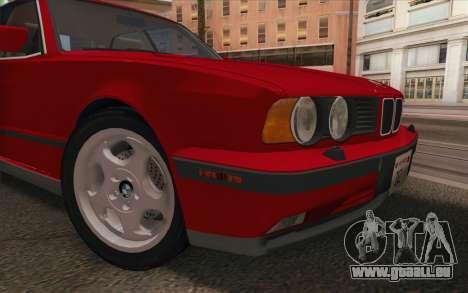 BMW M5 E34 1991 NA-spec für GTA San Andreas Rückansicht