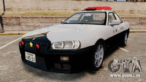Nissan Skyline ER34 Police pour GTA 4