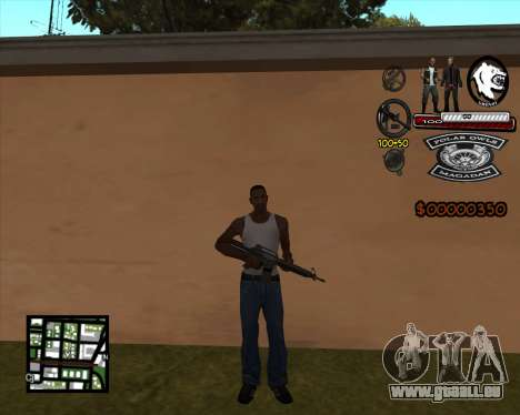 C-HUD Bikers für GTA San Andreas dritten Screenshot