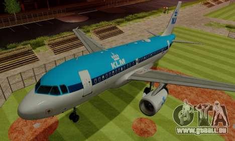 Airbus A319 KLM für GTA San Andreas obere Ansicht