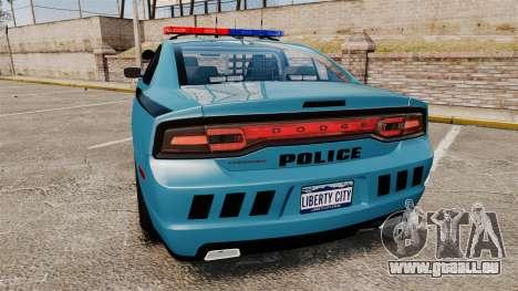 Dodge Charger 2011 LCPD [ELS] für GTA 4 hinten links Ansicht