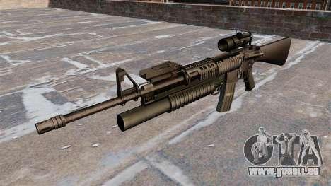 Tactique fusil M16A4 pour GTA 4 troisième écran