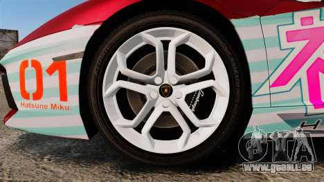 Lamborghini Aventador LP700-4 2012 [EPM] Miku 2 für GTA 4 Rückansicht