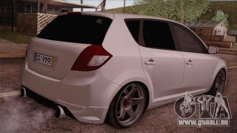 Kia Ceed 2011 pour GTA San Andreas laissé vue