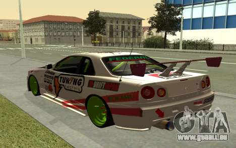 Nissan Skyline R-34 RDS pour GTA San Andreas laissé vue