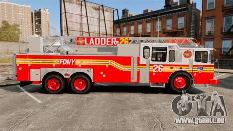 Ferrara 100 Aerial Ladder FDNY [working ladder] für GTA 4 linke Ansicht