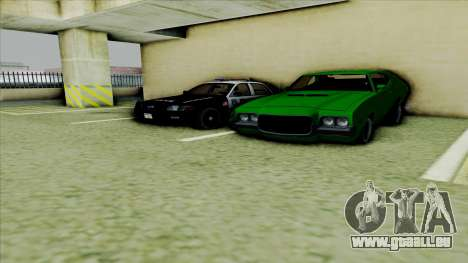 Ford Crown Victoria Police Interceptor pour GTA San Andreas vue arrière