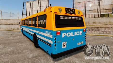 Brute Bus LCPD [ELS] v2.0 für GTA 4 hinten links Ansicht