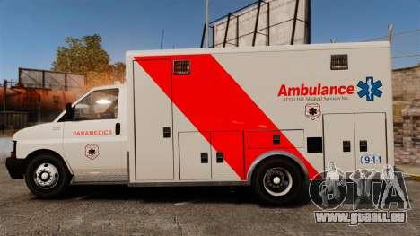 Brute Speedo RLMS Ambulance [ELS] pour GTA 4 est une gauche