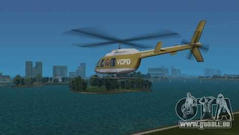 Polizei-Hubschrauber von GTA VCS für GTA Vice City rechten Ansicht