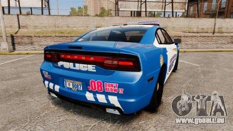 Dodge Charger 2013 Liberty County Police [ELS] für GTA 4 hinten links Ansicht