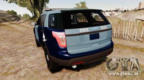 Ford Explorer 2013 MSP [ELS] pour GTA 4 Vue arrière de la gauche