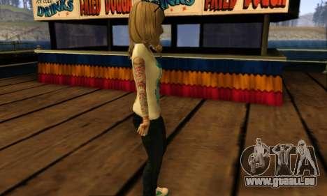 Catrina Skin pour GTA San Andreas quatrième écran