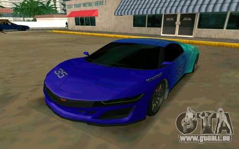 GTA V Dinka Jester für GTA San Andreas linke Ansicht