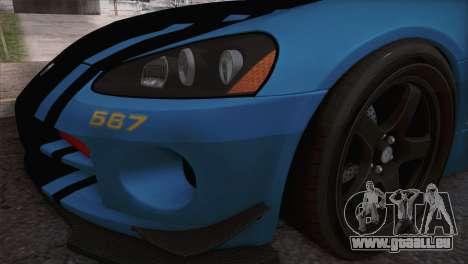 Dodge Viper SRT 10 ACR Police Car pour GTA San Andreas vue de droite
