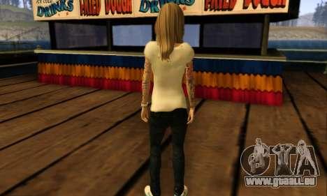 Catrina Skin pour GTA San Andreas cinquième écran
