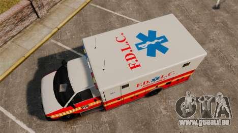 Brute Speedo FDLC Ambulance [ELS] für GTA 4 rechte Ansicht