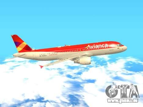 Airbus A320 Avianca Columbia pour GTA San Andreas laissé vue