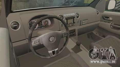Volkswagen Amarok 2012 SAPS [ELS] pour GTA 4 est une vue de l'intérieur