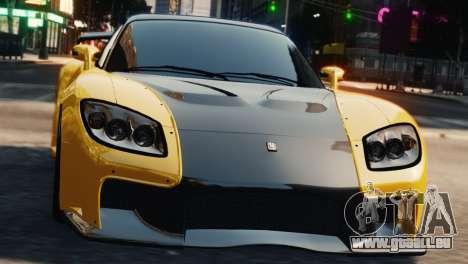 Mazda RX7 Veilside V8 pour GTA 4 Vue arrière
