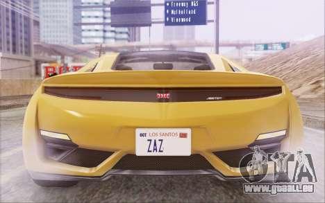 GTA V Dinka Jester IVF pour GTA San Andreas vue intérieure