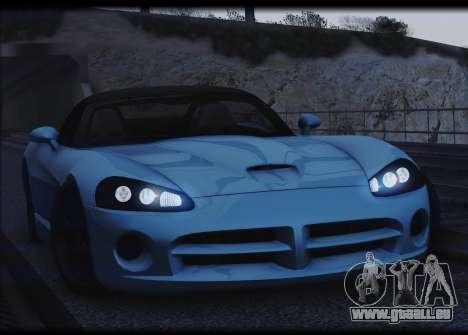 Dodge Viper SRT-10 pour GTA San Andreas vue arrière