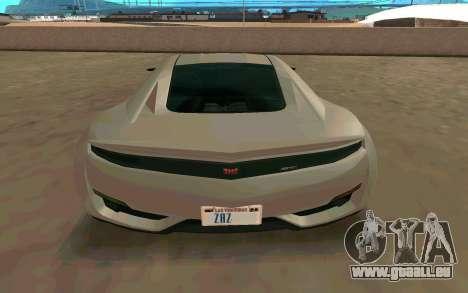 GTA V Dinka Jester für GTA San Andreas rechten Ansicht