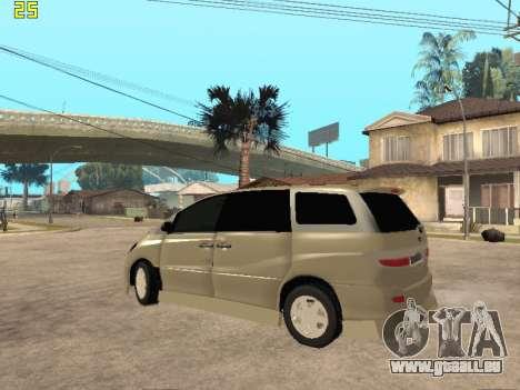 Toyota Estima Altemiss 2wd für GTA San Andreas zurück linke Ansicht