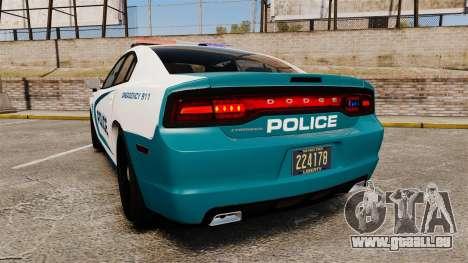 Dodge Charger 2013 Patrol Supervisor [ELS] pour GTA 4 Vue arrière de la gauche