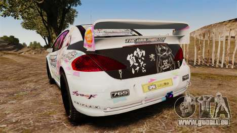 Peugeot 307 WRC The Idolmaster Cinderella Girls für GTA 4 hinten links Ansicht