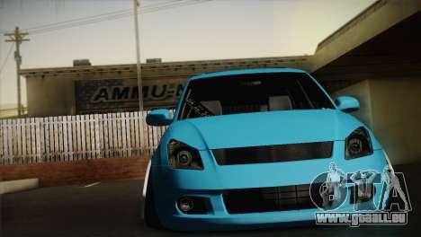 Suzuki Swift Hellaflush pour GTA San Andreas laissé vue