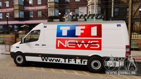 Mercedes-Benz Sprinter TF1 News [ELS] pour GTA 4 est une gauche