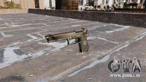 L'auto-chargement de pistolet Beretta 92FS pour GTA 4 troisième écran