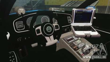 Dodge Charger 2013 LCPD [ELS] für GTA 4 Rückansicht