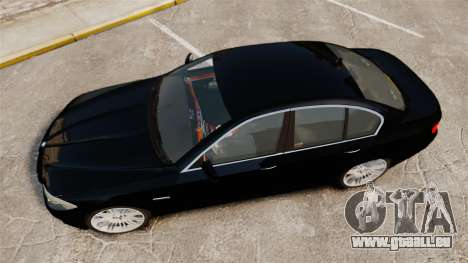 BMW M5 F10 2012 Unmarked Police [ELS] pour GTA 4 est un droit