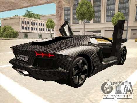 Lamborghini Aventador LP700-4 2013 pour GTA San Andreas vue intérieure
