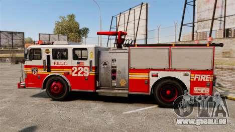 Fire Truck v1.4A FDLC [ELS] für GTA 4 linke Ansicht
