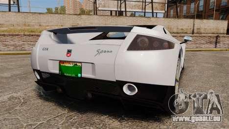 GTA Spano pour GTA 4 Vue arrière de la gauche