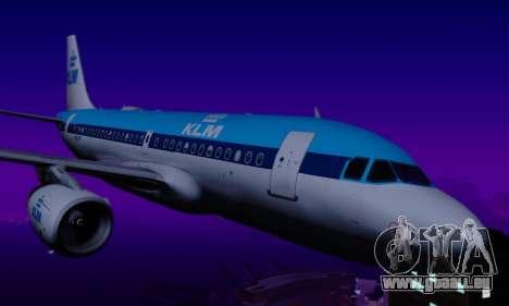 Airbus A319 KLM für GTA San Andreas Rückansicht
