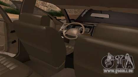 Ford Crown Victoria Police Interceptor pour GTA San Andreas vue de dessous