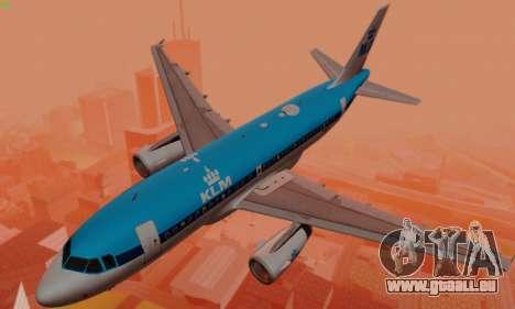 Airbus A319 KLM pour GTA San Andreas moteur
