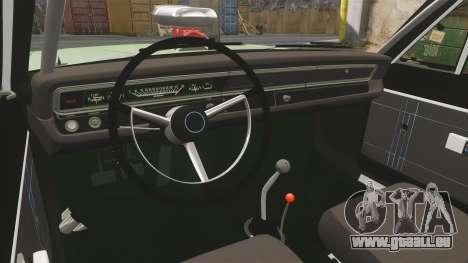 Dodge Dart 1968 pour GTA 4 est une vue de l'intérieur