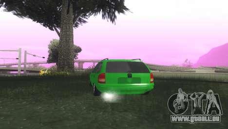Chevrolet Corsa Wagon pour GTA San Andreas sur la vue arrière gauche