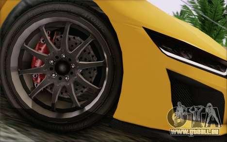 GTA V Dinka Jester IVF pour GTA San Andreas vue de droite