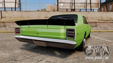 Dodge Dart 1968 pour GTA 4 Vue arrière de la gauche